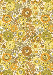 Lewis & Irene - Flower Child A435.1 Far out floral yellows