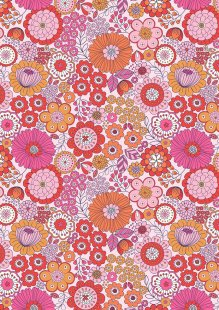Lewis & Irene - Flower Child A435.2 Far out floral pinks