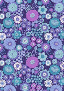 Lewis & Irene - Flower Child A435.3 Far out floral blues