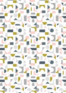 Lewis & Irene - Forme A412.1 - Scattered geometric on cream