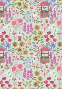 Lewis & Irene - Grandma's Garden A195.1 - Grandma's Garden On Light Blue