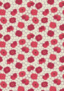 Lewis & Irene - Grandma's Garden A197.2 - Red Poppy On Natural