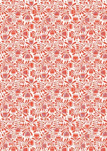 Lewis & Irene - Hanns House A278.2 - Red Hann's floral