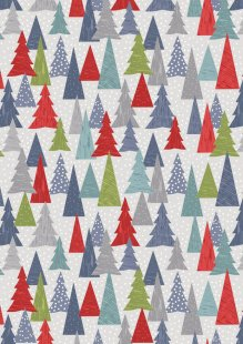 Lewis & Irene - Hygge Christmas C30.2 - Christmas trees red