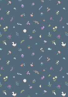 Lewis & Irene - Jolly Spring A342.3 Pretty little spring on dark blue