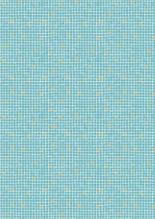 Lewis & Irene - Lindos A269.1 - Turquoise little tiles