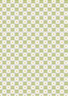 Lewis & Irene - Love Me Love Me Not A274.1 - Retro daisy on palest grey