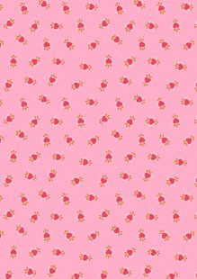 Lewis & Irene - Maya A386.1 - Boho Hearts On Pink