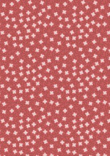 Lewis & Irene - Michaelmas A399.2 - Small Floral On Soft Red