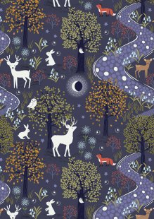 Lewis & Irene - Nighttime In Bluebell Wood A474.2 Glow in the woods midnight blue