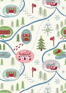 Lewis & Irene - North Pole C13.1 - Santa Map On Snow