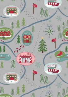Lewis & Irene - North Pole C13.3 - Santa Map On Dark Silver