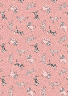 Lewis & Irene - Panthera A333.2 Little big cats on pink