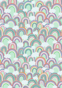 Lewis & Irene - Raibows A441.1 - All over rainbows on light green