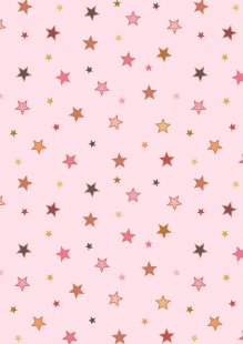 Lewis & Irene - Raibows A442.1 Calming stars with rose gold metallic