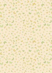 Lewis & Irene - Sew Mindful A262.1 - Butterflies on mellow yellow