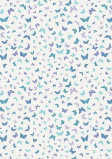 Lewis & Irene - Sew Mindful A262.3 - Butterflies on blissful blue