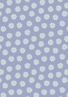 Lewis & Irene - Sew Mindful A264.1 - Flower mandalas on lilac