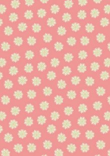 Lewis & Irene - Sew Mindful A264.2 - Flower mandalas on peach