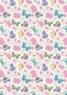 Lewis & Irene - Sew Mindful A265.1 - Lotus flowers on cream