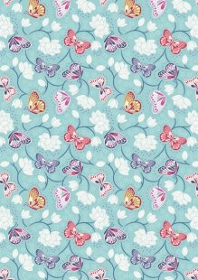 Lewis & Irene - Sew Mindful A265.2 - Lotus flowers on pale blue