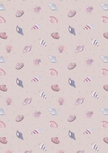 Lewis & Irene - Small Things By The Sea SM18.2 Shells on warm light lilac