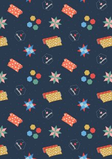 Lewis & Irene - Small Things Crafts SM36.3 - Quilting on dark blue