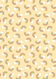 Lewis & Irene - Small Things Mystical & Magical SM8.2 - Rainbows on yellow (with gold metallic)