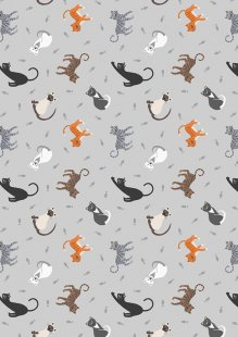Lewis & Irene - Small Things Pets SM28.1 Cats on pale grey