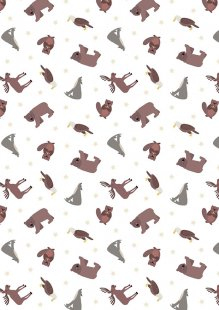 Lewis & Irene - Small Things World Animals SM22.1 - North American animals on white