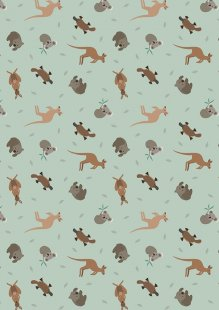 Lewis & Irene - Small Things World Animals SM23.2 - Australian animals on soft eucalyptus