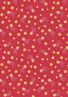 Lewis & Irene - A Little Christmas Star CHR13.3 Happy Stars on Red