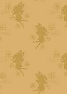 Lewis & Irene - Make A Christmas Wish CHR7.1 Fairies on Gold (Metallic)