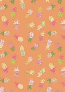 Lewis & Irene - Tropicana A134.3 Pineapples on orange