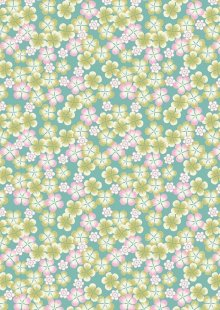 Lewis & Irene - Tropicana A135.1 Green tropical flowers