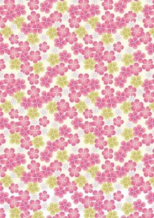 Lewis & Irene - Tropicana A135.3 Pink tropical flowers