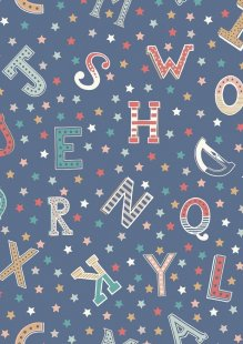 Lewis & Irene - Vintage Circus A143.3 Vintage letters blue