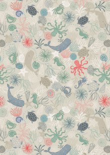 Lewis & Irene - Thalassophile A463.2 Under the sea on dark cream