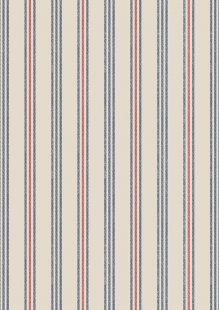Lewis & Irene - Thalassophile A464.1 Coastal stripe on dark cream