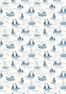 Lewis & Irene - Thalassophile A467.1 Boats on cream
