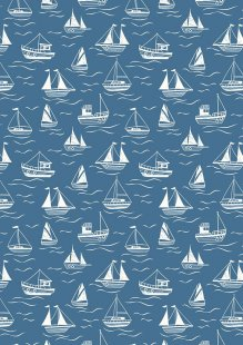 Lewis & Irene - Thalassophile A467.3 Boats on dark blue