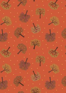 Lewis & Irene - The Orchard A497.2 Trees on burnt orange