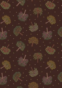 Lewis & Irene - The Orchard A497.3 Trees on dark brown