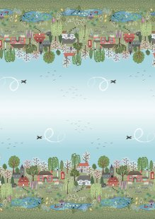 Lewis & Irene - The Village Pond A452-BORDER PRINT