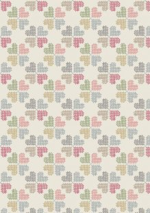 Lewis & Irene - Threaded With Love A183.1 - Stitch Heart On Cream