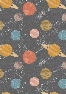 Lewis & Irene - To The Moon & Back A160.2 - Planets On Dark Grey