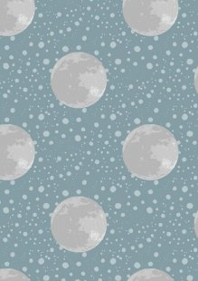 Lewis & Irene - To The Moon & Back A164.1 - Moon On Blue / Grey