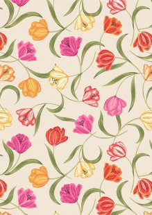 Lewis & Irene - Tulip Fields A461.1 Tulips on cream
