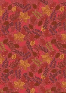 Lewis & Irene - Under The Oak Tree A396.2 - Leaves on rusty red