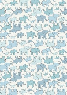 Lewis & Irene - Welcome Home A216.1 - Marching Elephant Family Blue